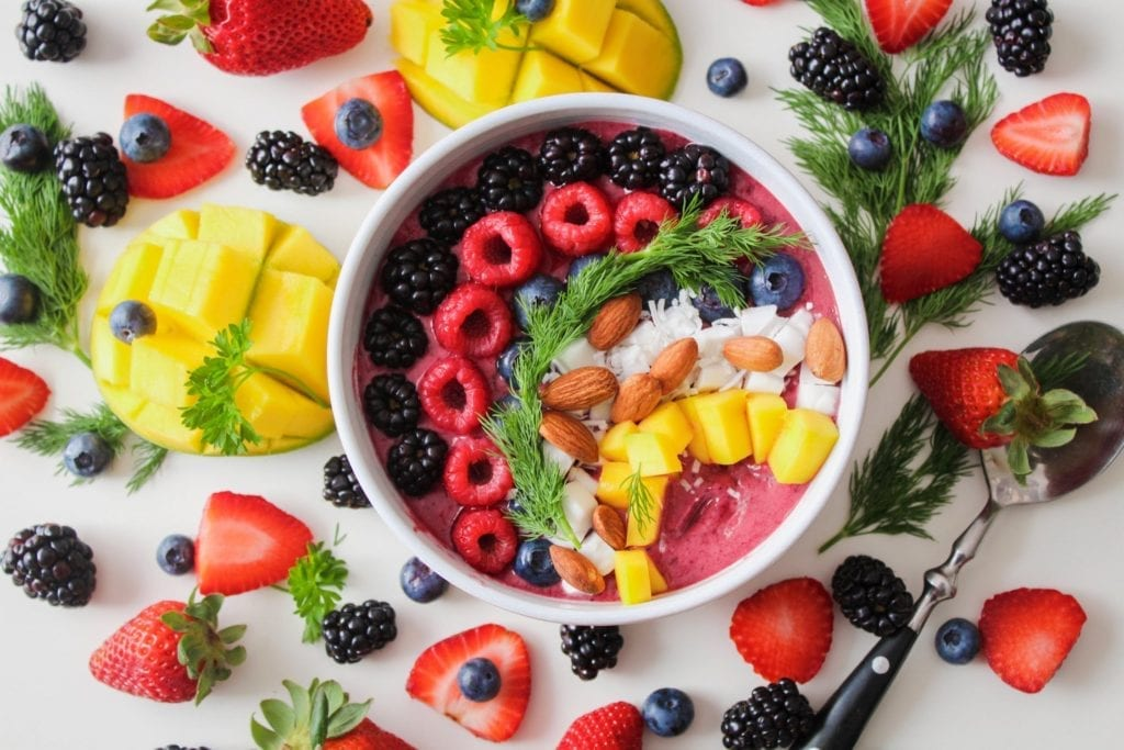 bowl of mixed fruit for invisalign food blog